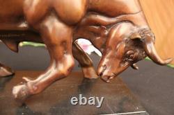 Art Déco Fonte Signée Moigniez Bronze Sculpture Marbre Base Figurine