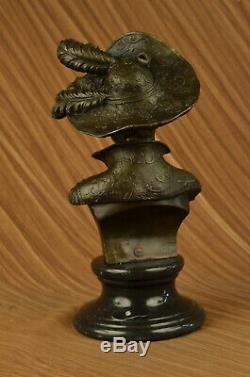 Artisanal Bronze Sculpture Soldes Marbre Buste Femme Sexy Grand Original Signé