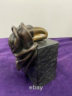 Beau Bronze Nue Féminin Sculpture Femme Nue Socle Marbre Signé Et Numéroté 2/499