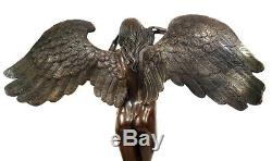 Bronze Ange Sur Base en Marbre, Nachguss Avec Signature A. A. Weinman