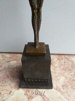 Bronze Grande Danseuse Signé Chiparus Socle Marbre