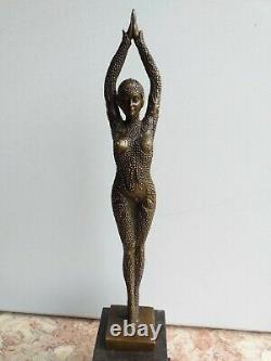 Bronze Grande Danseuse Starfish Signé Chiparus Socle Marbre