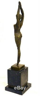 Bronze Nu Starfish Signé Chiparus en Bronze Fabriqué sur Socle en Marbre