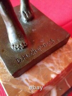 Bronze Signé Chiparus Danseuse Phoenicienne Socle Marbre Art Déco