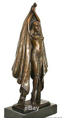 Bronzefigur- Art Déco Danseuse Signé Chiparus sur Base en Marbre Nachguss