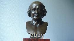 Buste bronze sur marbre signé Pierre Robinet (1814-1878)