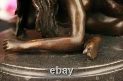 Chair Contortionists Danseuse Signé Collector Édition Bronze Marbre Sculpture