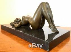 Érotique Bronze Akt- Figure en Bronze sur Base en Marbre Signé Raymondo Numéroté