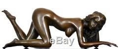 Érotique Figure en Bronze Nu Signé Raymondo Sur Base en Marbre Numérotée 1/10