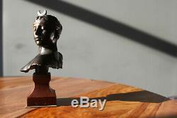 FALGUIERE & Thiebaut fondeur Buste de Diane Bronze signe & marbre rouge