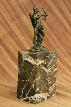 Fait Bronze Sculpture Solde Base Marbre Apollo Milo Original Signé Figurine