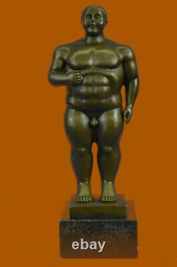 Fait Cubby Mâle Bronze Sculpture Signée Original Milo Marbre Figurine Nr
