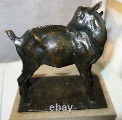 Henri Vallette (1877-1962) sculpture bronze chèvre marbre sculpteur animalier