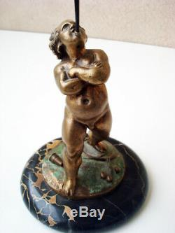 Joli Bronze Ancien Jongleur Trace De Signature À Identifier Très Déco