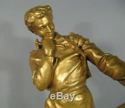 L'armurier Artisan Fourbisseur Sculpture Ancienne Bronze Ancien Signé Kossowski