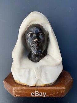 Paul Loiseau Rousseau (1861-1927) Buste En Bronze Et Marbre Salem Orientaliste