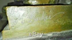 Rare Bronze signé BARBIER Scène Angelot jouant Chérubins XIX eme. À expertiser