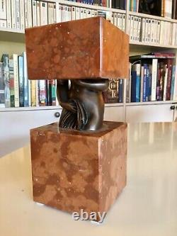 Sacha SOSNO. Sculpture bronze et marbre. Signée, datée et numérotée / 50
