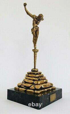 Salvador DALI (Première édition 150 ex)-Sculpture-Bronze-Marbre-Signé-Numéroté