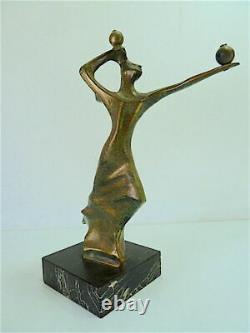 Sculpture Femme Art Moderne Bronze Marbre Robert SEGUINEAU XX 20th