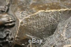 Signé Bologne Zeus Avec Nymphes Et Aigle Bronze Sculpture Statue Marbre Décor