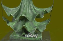 Signé Salvador Dali Titre Dalinian Dancer Abstrait Marbre Bronze Sculpture Deal