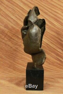 Signé Salvador Dali Titre Shame Sur Me Bronze Sculpture Abstrait Marbre Figurine