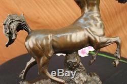 Signée Bronze Sculpture Mythologie Art Centaure Très Détaillé Statue Sur Marbre