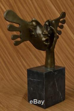 Signée Dali Abstrait Femelle Sunshine Bronze Sculpture Marbre Base Figure Décor