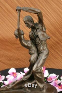 Signée Edgar Degas Tango Danseuse Passion Danse Bronze Marbre Sculpture Statue D