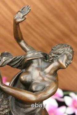 Signée Giambologna Viol De The Sabine Femme Bronze Marbre Base Mythique Figurine