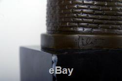 Signée Milo, belle sculpture. Buste Véritable bronze et marbre