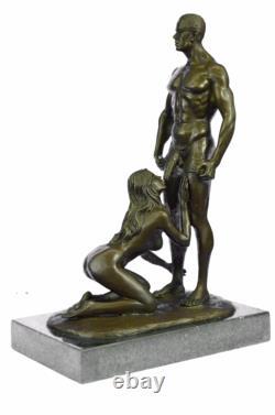 Signée Original Mavchi Oral Pleasure Masterpiece Bronze Sculpture Marbre Statue