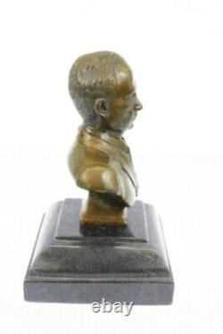 Signée Original Vladimir Poutine Buste Bronze Statue Marbre Sculpture Figurine