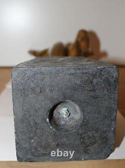Statue Danseuse Nue Signée R. Monserez Bronze Socle Marbre Art Déco Antique Rare