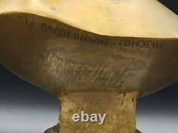 Superbe buste en bronze à l'antique signé F. Barbedienne (1810-1892) sur marbre