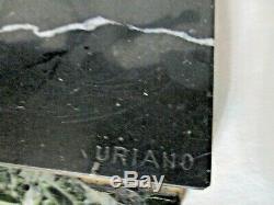 Ugo Cipriani Dit Uriano 2 Gazelles Bondissantes En Regule No Bronze Art Deco