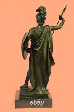Vintage Bronze Buste Signé Marbre Base Romain/Grec Bearded Homme Soldat Deal