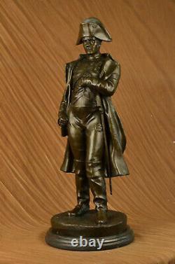 Vintage Rare Signé Bronze Napoléon Bonaparte Buste Statue Sculpture Marbre Base