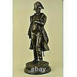 Vintage Rare Signée Bronze Napoléon Bonaparte Buste Statue Sculpture Marbre Base
