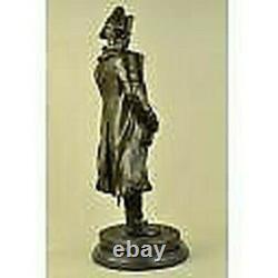 Vintage Rare Signée Bronze Napoléon Bonaparte Buste Statue Sculpture Marbre Fond